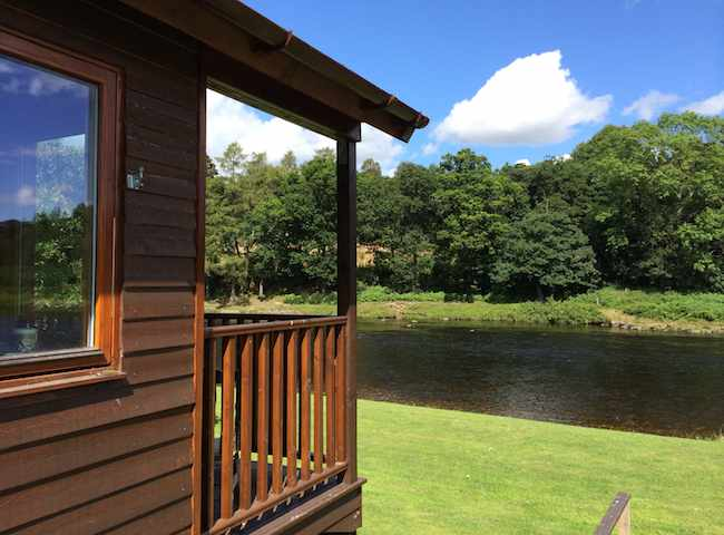 The River Dee Salmon Fishing Huts