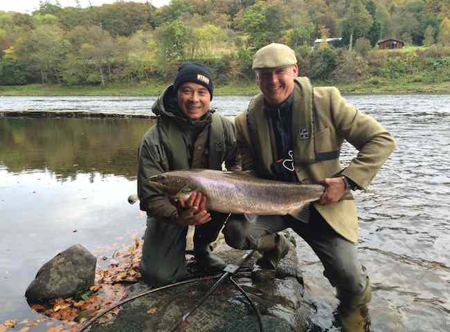 Catching Autumn Salmon In Scotland