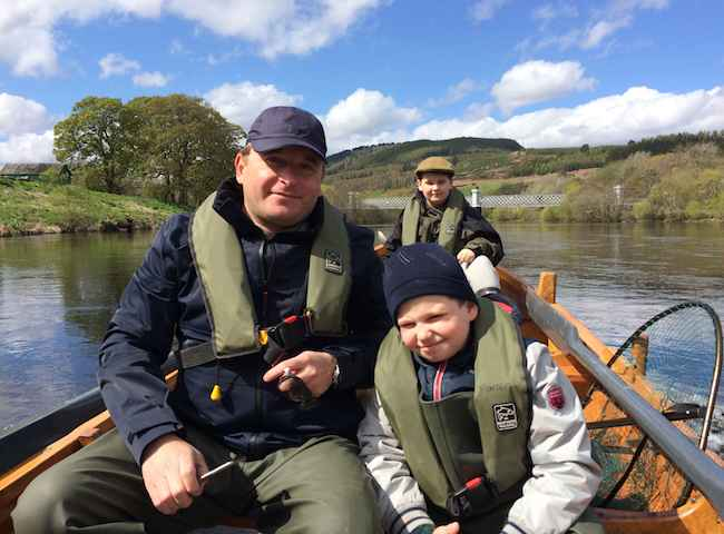 Catching Salmon In Perthshire