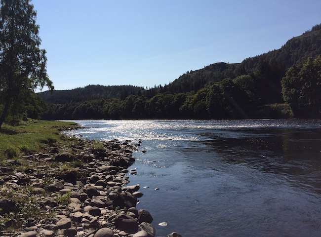 The Salmon Pools Of The River Tay