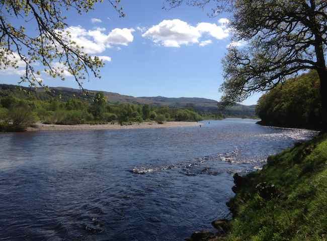 Fishing For Salmon In Scotland