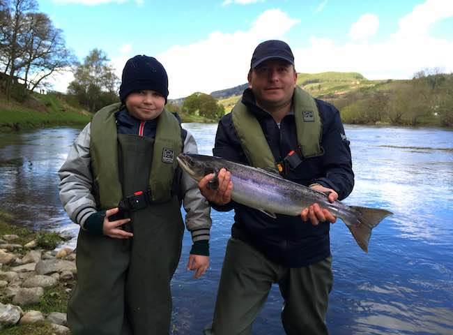 Father & Son River Tay Fishing