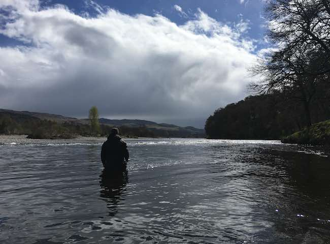 Catching Salmon On The Tay