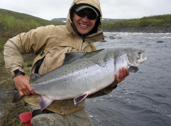 Catching Salmon On The Fly
