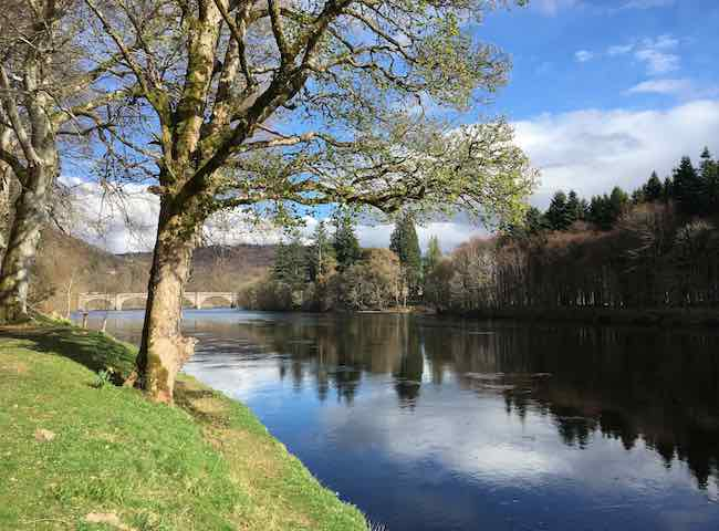 The Scottish salmon rivers have some of the most fantastic natural scenery that is scattered with significant historic landmarks such is the case here on the River Tay at Dunkeld.