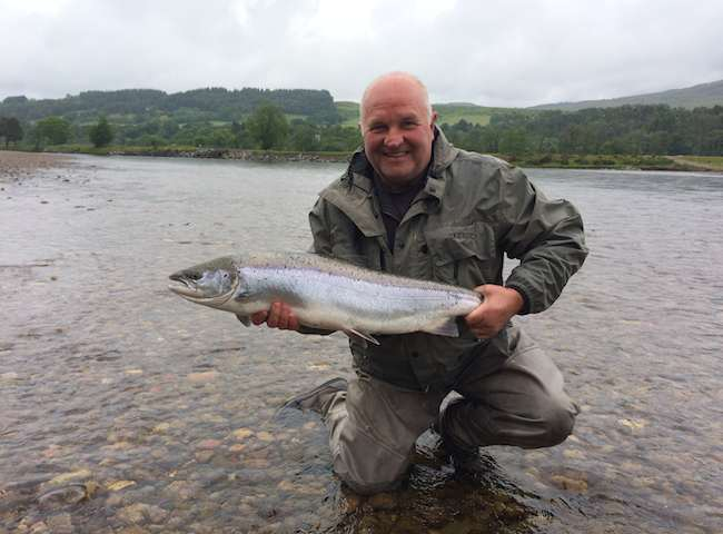 There's a huge sense in satisfaction from catching a pristine Scottish salmon on the fly such as this fine specimen here. This experience really has to be experienced to be fully appreciated. Booking a professional salmon guide will greatly assist you in hitting this objective.
