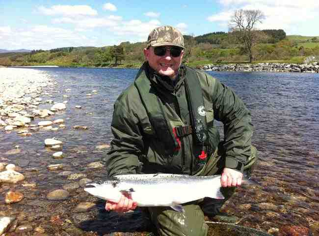 There's nothing that compares to catching a perfect fish like this on a perfect day during early Summer. Many fine fish like this are caught each year on the River Tay between the Perthshire towns of Dunkeld & Pitlochry.
