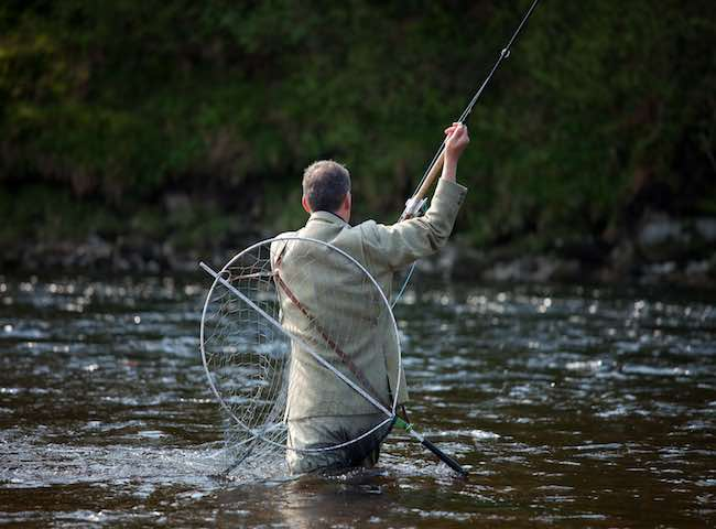 In Scotland the traditional fly fishing cast that we use is called the Spey cast as it was developed on the mainly tree shrouded River Spey. This truly is a remarkable cast which enables a distant fly to be delivered with the fly always staying in front of you which you'd think isn't actually possible.