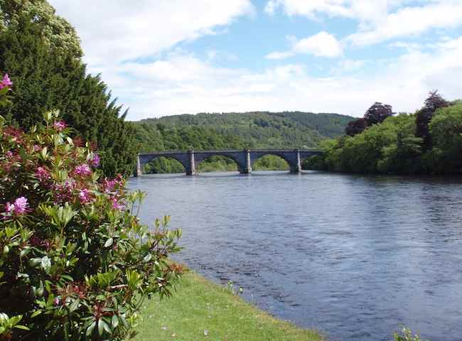 The River Tay Telford Bridge At Dunkeld