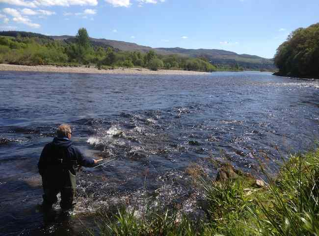 Here's A Lovely Shot Of Where The River Tummel Meets The River Tay.