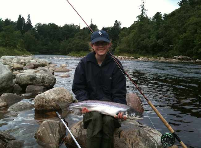 It Is Always Fantastic To See A Youngster Catch Their First Salmon