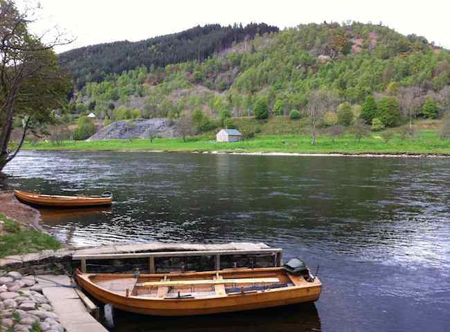 These Traditionally Built Salmon Fishing Boats Are Sometimes Used On The River Tay