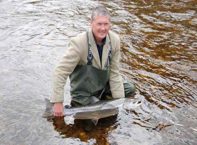 Catching Salmon On Holiday In Scotland