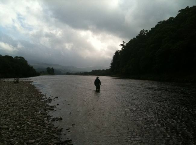 Having the fly fishing skills with a double handed salmon rod to be able to deliver a consistent fly to the river in all varying wind conditions is important in salmon fishing.