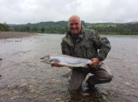 Catching Autumn Salmon On The River Tay