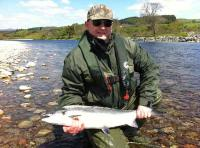 Fishing On The River Tay For Salmon