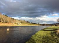 Fishing On The Beatiful River Dee Near Banchory