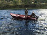 Boat Fishing On The River Tay