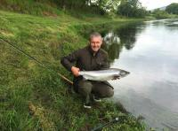Salmon Fly Fishing On The River Tay